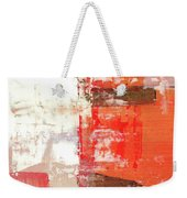 Behind The Corner - Warm Linear Abstract Painting Weekender Tote Bag