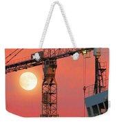 Behind The Crane A Hunter's Moon Rises II Weekender Tote Bag