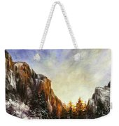 Behind The Mountains  Weekender Tote Bag