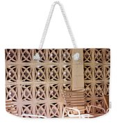 Beige Chairs Palm Springs Weekender Tote Bag