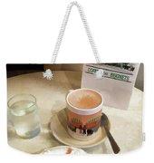 Beignet And Coffee At Cafe Du Monde Weekender Tote Bag