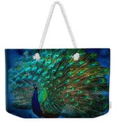 Being Yourself - Peacock Art Weekender Tote Bag