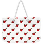 Bejewelled Heart Half Drop Weekender Tote Bag