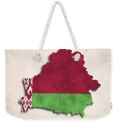 Belarus Map Art With Flag Design Weekender Tote Bag