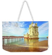 Belem Tower Reflects Weekender Tote Bag