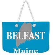 Belfast Maine State City And Town Pride  Weekender Tote Bag