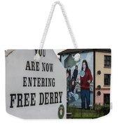 Belfast Mural - Free Derry - Ireland Weekender Tote Bag