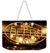 Belgian Beer Sign Weekender Tote Bag