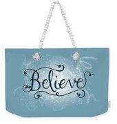 Believe Winter Art Weekender Tote Bag