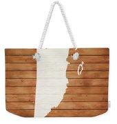 Belize Rustic Map On Wood Weekender Tote Bag