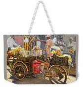 Belize Vendor With Bike Weekender Tote Bag