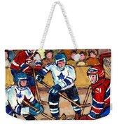 Bell Center Hockey Art Goalie Carey Price Makes A Save Original 6 Teams Habs Vs Leafs Carole Spandau Weekender Tote Bag