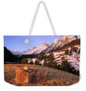 Bell Mountain Sunrise Weekender Tote Bag