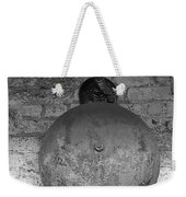 Bell On Bricks B W  Weekender Tote Bag