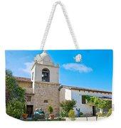 Bell Tower  In Carmel Mission-california  Weekender Tote Bag