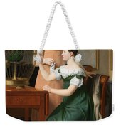 Bella And Hanna. The Eldest Daughters Of M.l. Nathanson Weekender Tote Bag