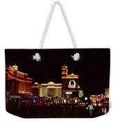 Bellagio And Caesar's Palace In Las Vegas-nevada Weekender Tote Bag
