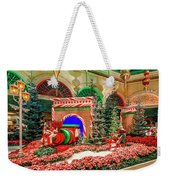 Bellagio Christmas Train Decorations Angled 2017 2 To 1 Aspect Ratio Weekender Tote Bag
