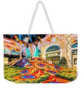 Bellagio Conservatory Fall Peacock Display Side View Wide 2 To 1 Ratio Weekender Tote Bag