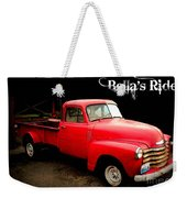 Bella's Ride Weekender Tote Bag