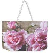 Belle Fleur Pink Peonies Weekender Tote Bag