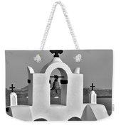 Bells In Oia Bw Weekender Tote Bag