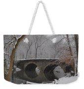 Bells Mill Bridge On A Snowy Day Weekender Tote Bag