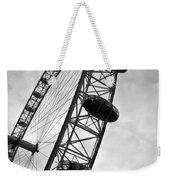 Below London's Eye Bw Weekender Tote Bag