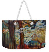 Below The Blossums Weekender Tote Bag