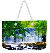 Below The Waterfall Weekender Tote Bag