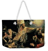 Belshazzars Feast Weekender Tote Bag by Rembrandt