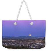Belt Of Venus And Full Moon Rising Weekender Tote Bag