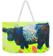 Belted Galloway Cow Looking At You Weekender Tote Bag
