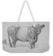 Belted Galloway Cow Pencil Drawing Weekender Tote Bag