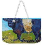Belted Galloway Cow - The Blue Beltie Weekender Tote Bag