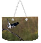 Belted Kingfisher Liftoff Weekender Tote Bag
