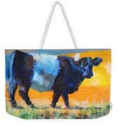 Belted Galloway Cow Side View Weekender Tote Bag