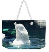 Beluga Whale Weekender Tote Bag