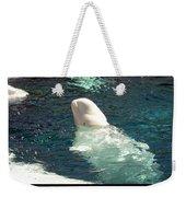 Beluga Whale Poster Weekender Tote Bag