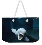 Beluga Whale Swimming With An Open Weekender Tote Bag