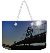 Ben Franklin Bridge 2 Weekender Tote Bag