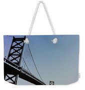 Ben Franklin Bridge Weekender Tote Bag