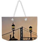 Ben Franklin Bridge In Early Morning Weekender Tote Bag