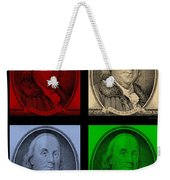 Ben Franklin In Colors Weekender Tote Bag