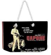 Ben Gazarra British 4 Sheet Theatrical Poster Capone 1975 Color Added 2016 Weekender Tote Bag