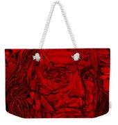 Ben In Wood Red Weekender Tote Bag