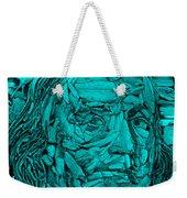 Ben In Wood Turquoise Weekender Tote Bag