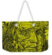 Ben In Wood Yellow Weekender Tote Bag