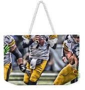 Ben Roethlisberger Pittsburgh Steelers Art Weekender Tote Bag