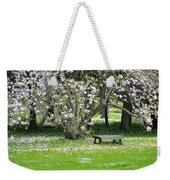 Bench Among Magnolia Weekender Tote Bag